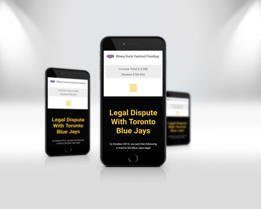 Portfolio website design - Blimp Rock Enterprises blog wordpress re-design