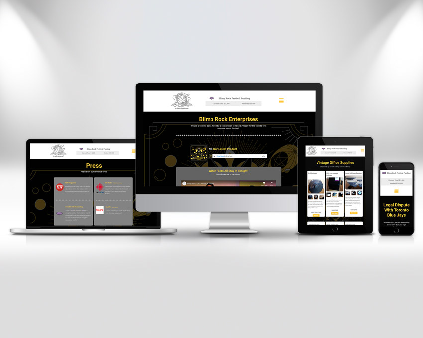 Portfolio website design - Blimp Rock Enterprises responsive design coverv2