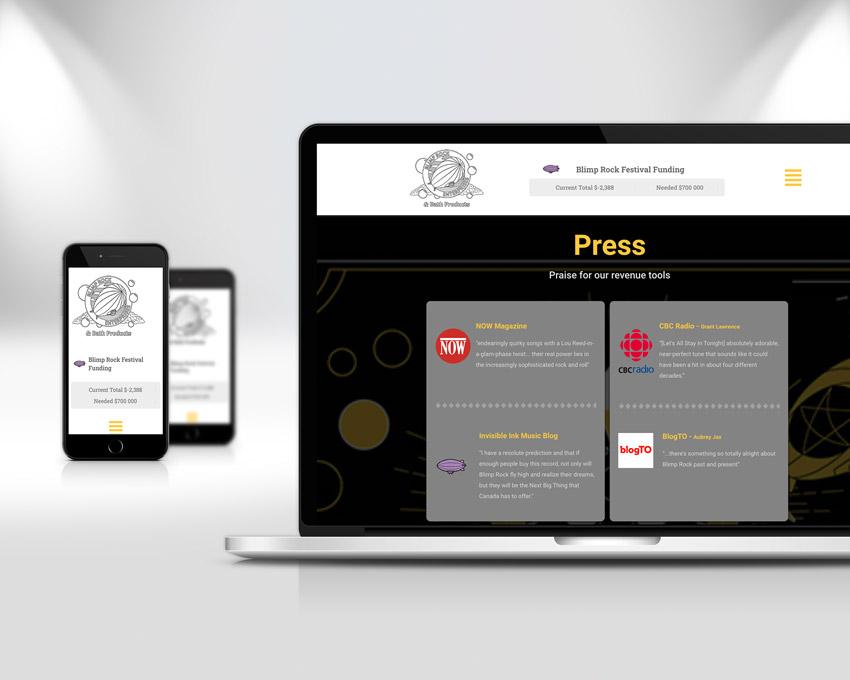 Portfolio website design - Blimp Rock Enterprises wordpress laptop