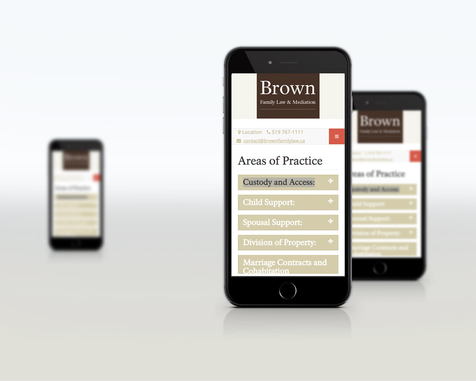 Brown Family Lawyer mobile design desktop Black bike media web design portfolio