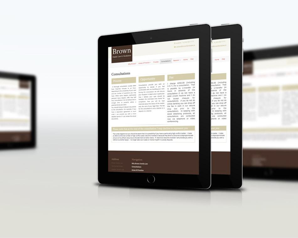 Brown Family Lawyer tablet desktop Black bike media web design portfolio