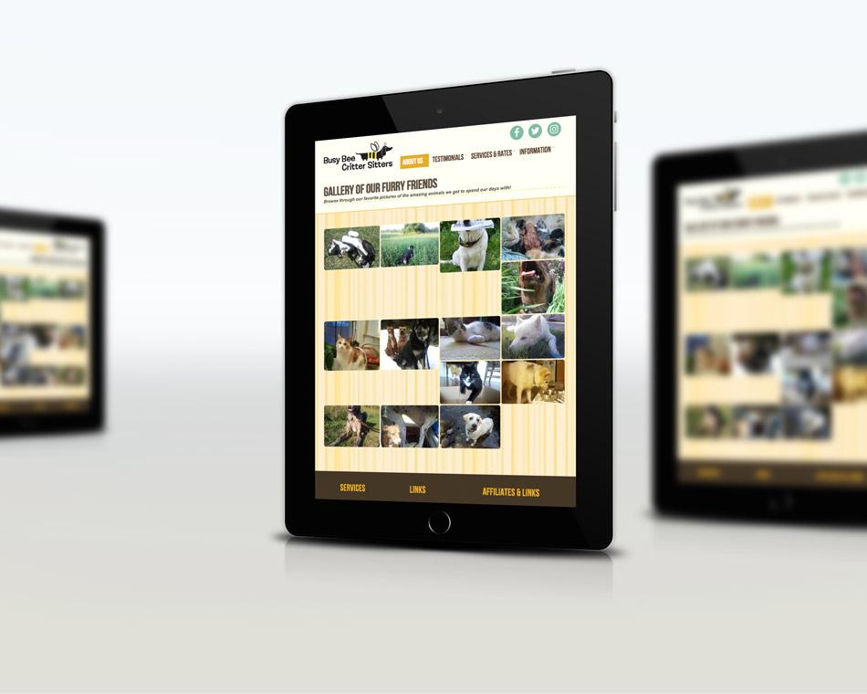 Busy Bee Critter Sitter portfolio website design guelph services web design
