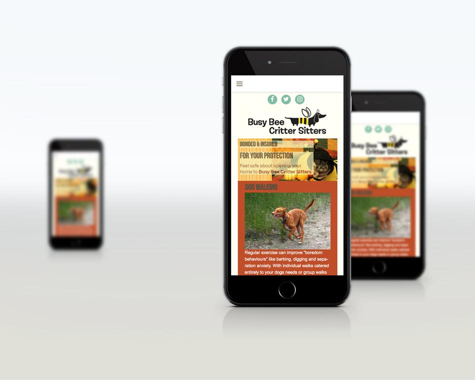Busy Bee Critter Sitter portfolio website-design guelph website services