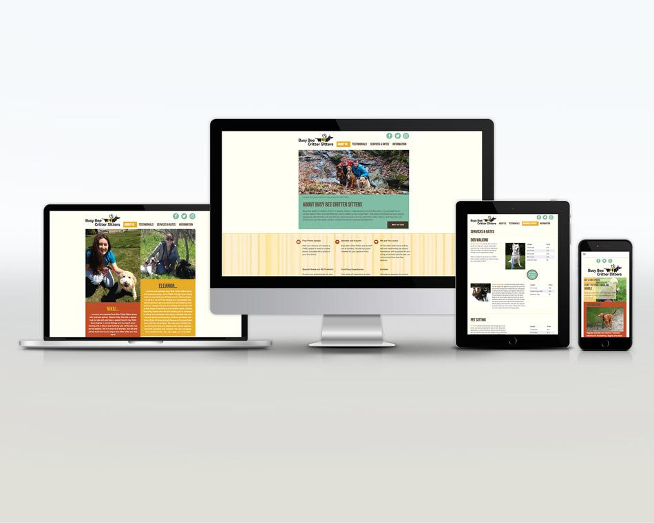 Busy Bee Critter Sitter portfolio website design near me guelph local business