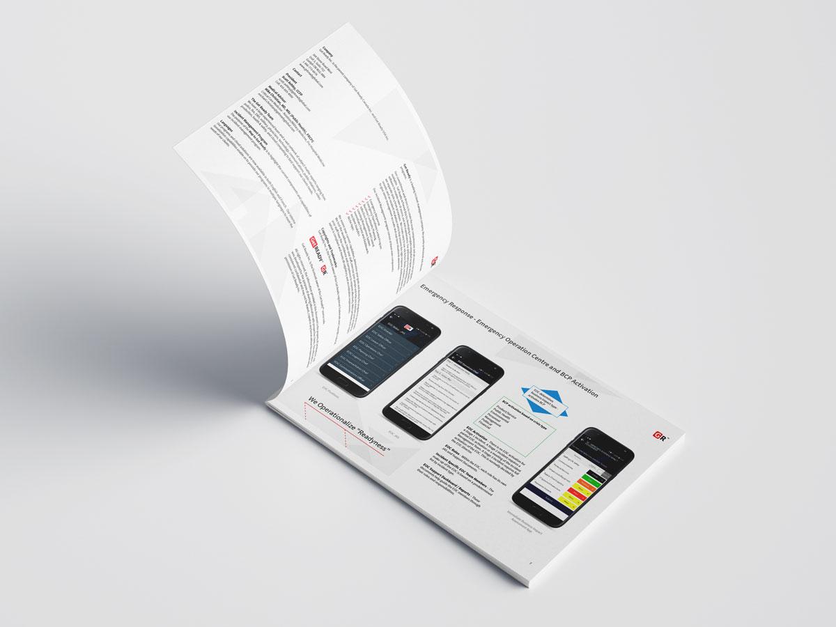 magazine and brochure design - portfolio Graphic Design - Get Ready Inc - inner cover