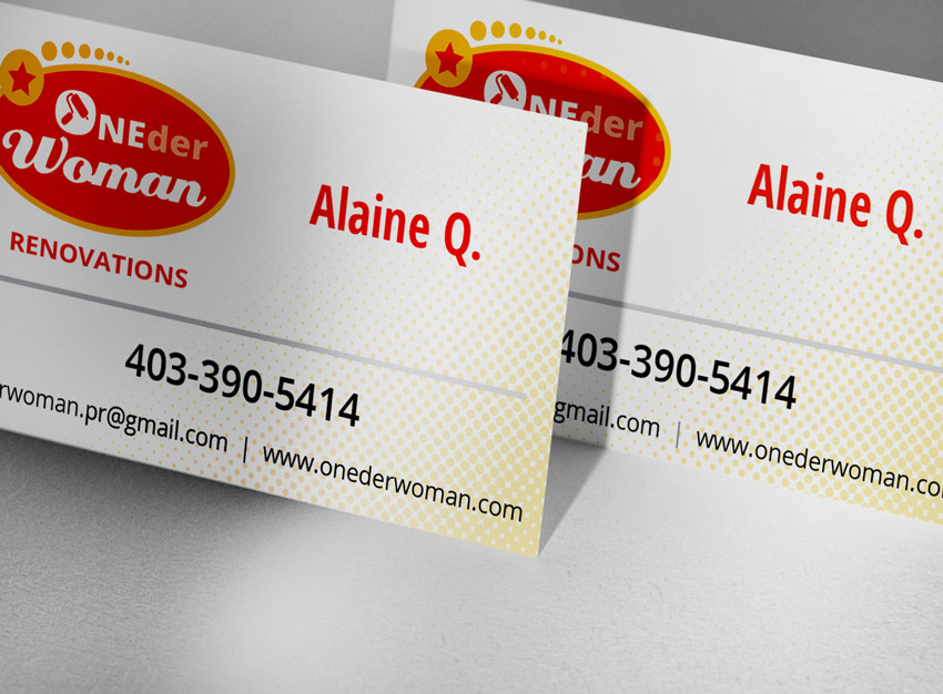 ONEderWoman Business Cards Portfolio Graphic Design near me