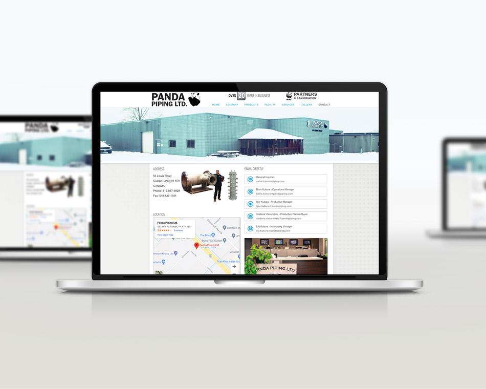 Panda Piping local business guelph web development