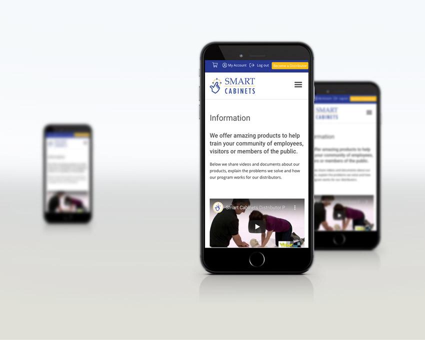 Portfolio Web Design - Smart AED Cabinets - Responsive design mobile
