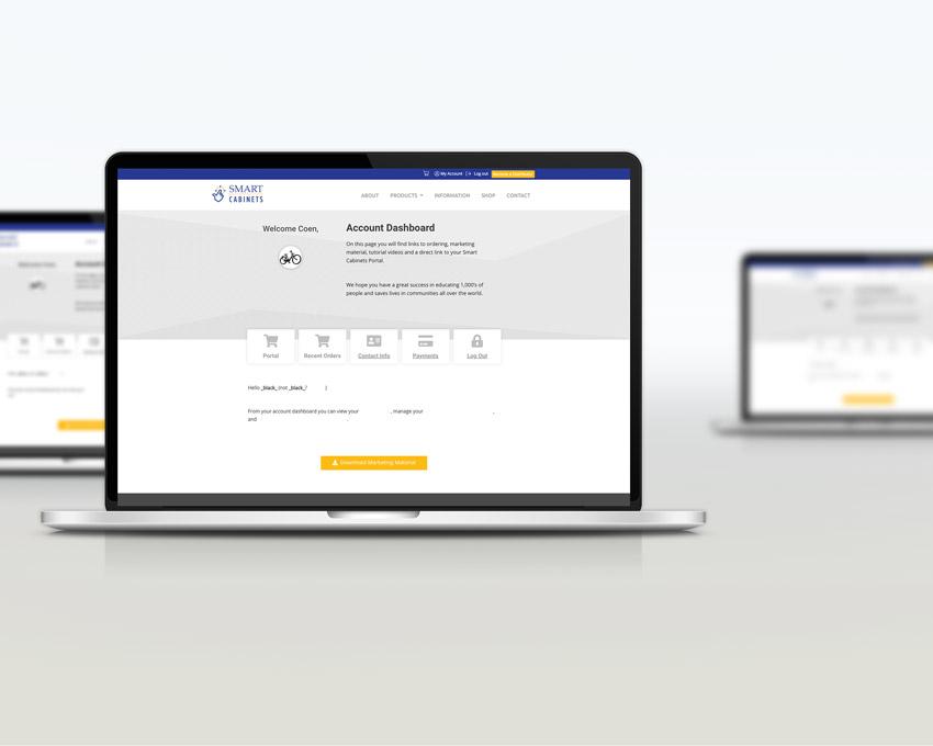 Portfolio Web Design - Smart AED Cabinets - eCommerce WordPress