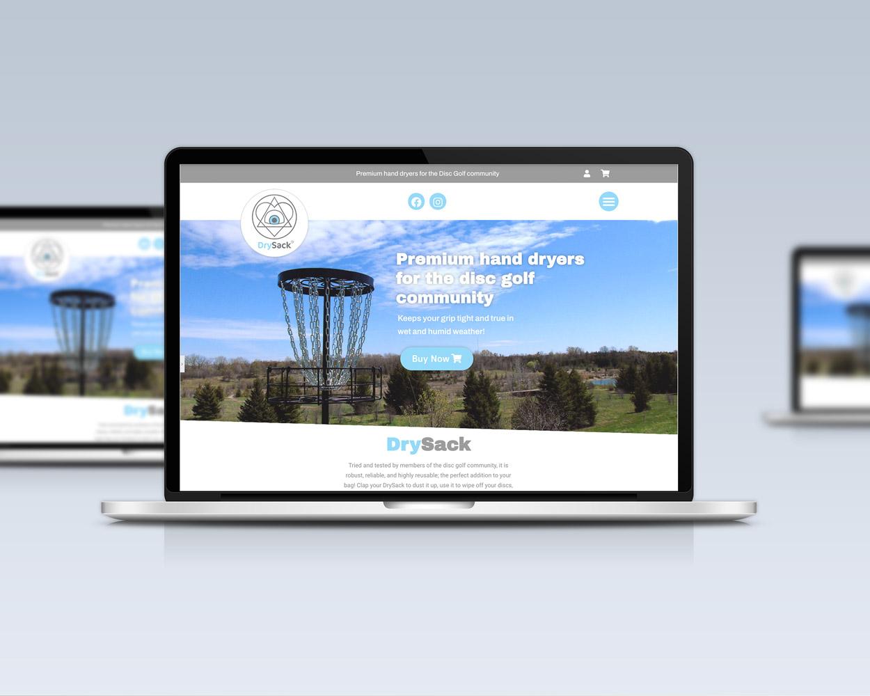 disc golf ecommerce online shop hompage desktopblack-bike-media black-bike-media